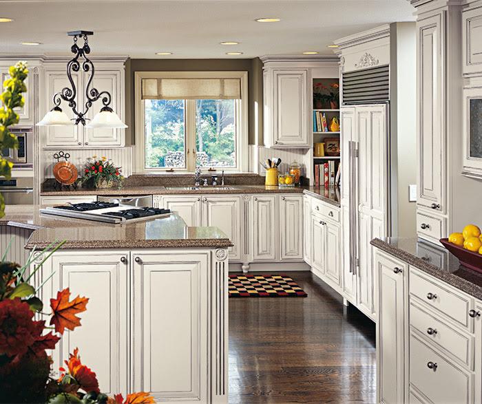 Chantille Off-White Cabinet Color on Maple - Decora