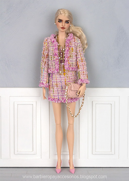 Chanel style suit for Barbie