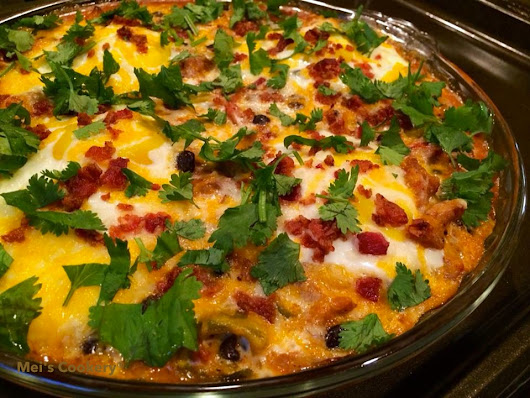 Spicy Mexican Baked Pork & Beans with Green Chiles and Eggs Casserole