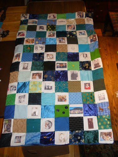 Finished Sensory and Memory Quilt (for my Dad's Christmas Gift)