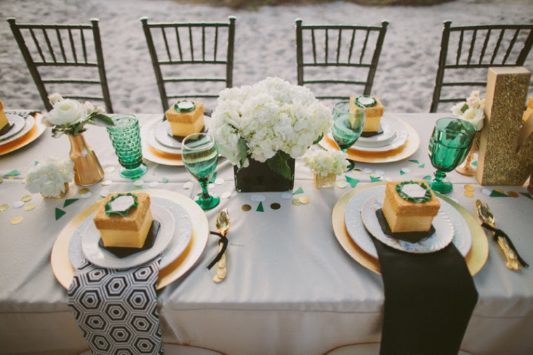 Emerald Green Gold Engagement B Lovely Events