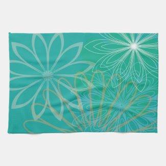 Blue Floral Kitchen Towel kitchentowel