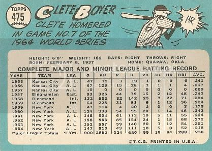 #475 Clete Boyer (back)