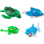 Juvale 4 Wind Up Water Amimal Kid Bath Toys for Boys Girls Swimming Bathtub Pool Party, Infant Boy's, Blue