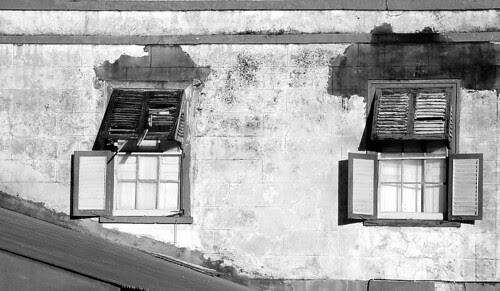 Old School Meals Building Windows
