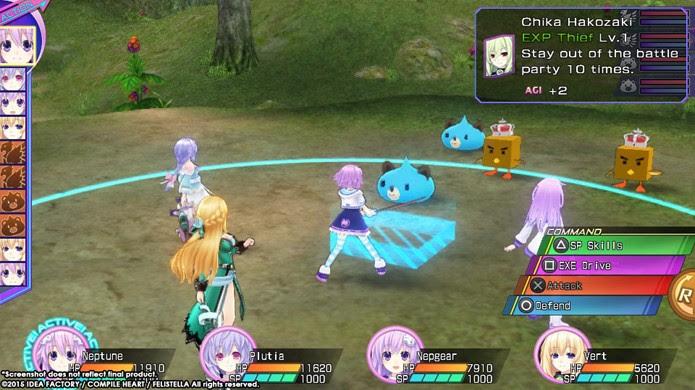 Após 3 jogos finalmente o nível de dificuldade da série Hyperdimension Neptunia foi acertado (Foto: Divulgação)