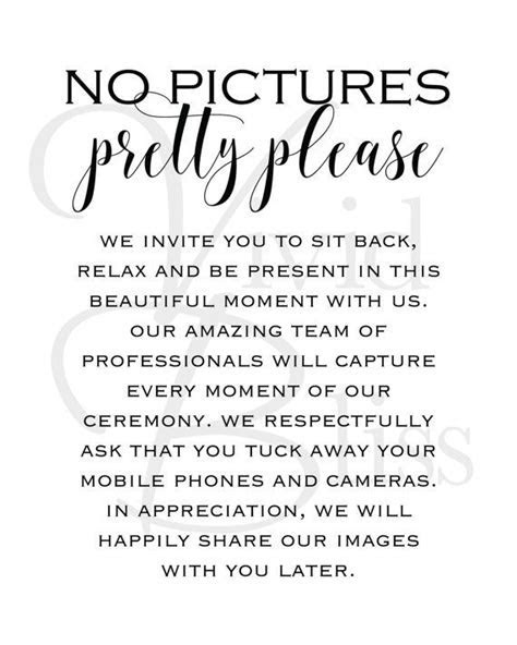25  best ideas about No cell phones on Pinterest   Wedding
