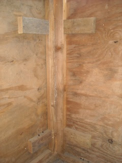 Goat Shed Redesign Back Blocks to Hold Hinge Screws
