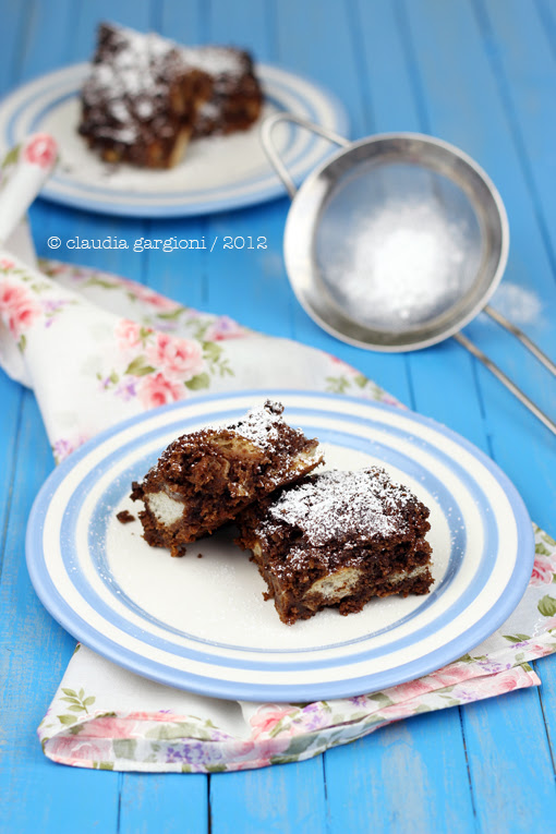 Brownies di pane raffermo