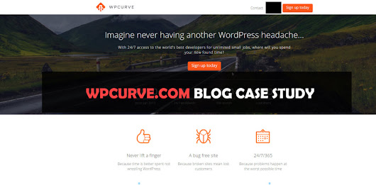 Case Study 'Wpcurve' - Does your blog have these 5 key elements?