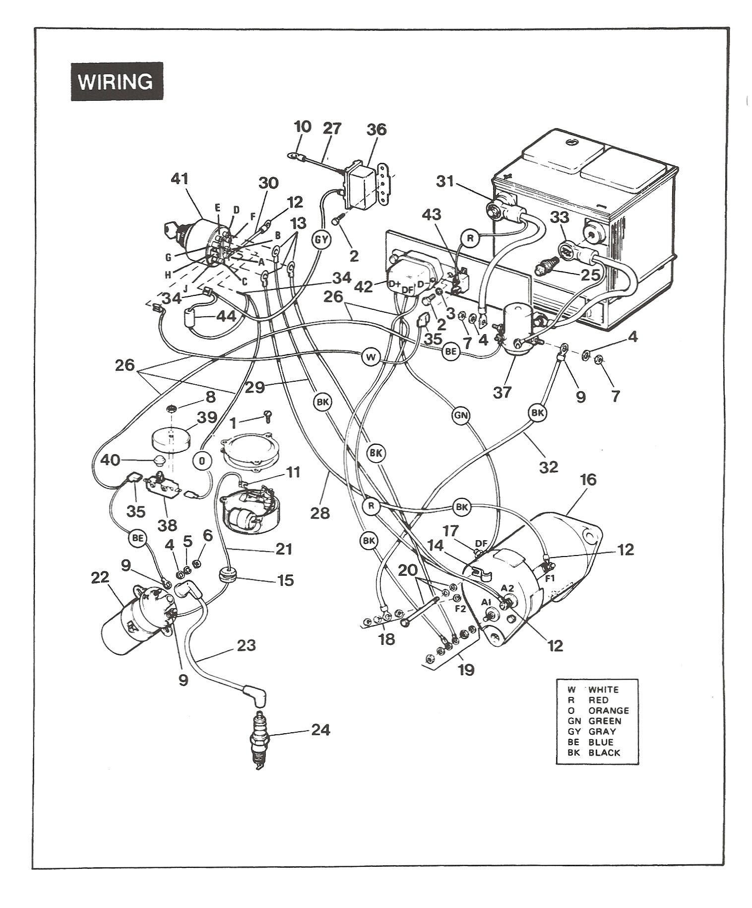E344679 1984 Ez Go Golf Cart Wiring Diagram Wiring Library