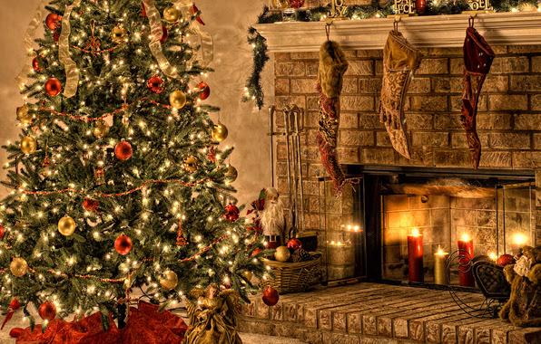 fireplace-christmas-tree-gifts-Favim.com-486602   Architecture ...