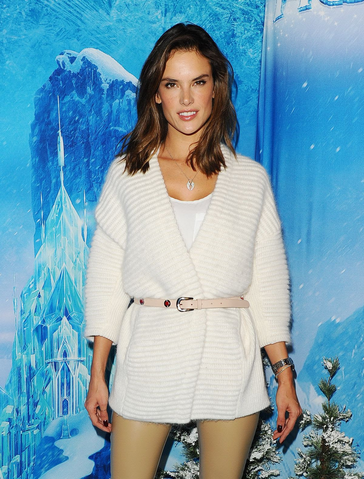 ALESSANDRA AMBROSIO at Disney on Ice in Los Angeles 12/10/2015