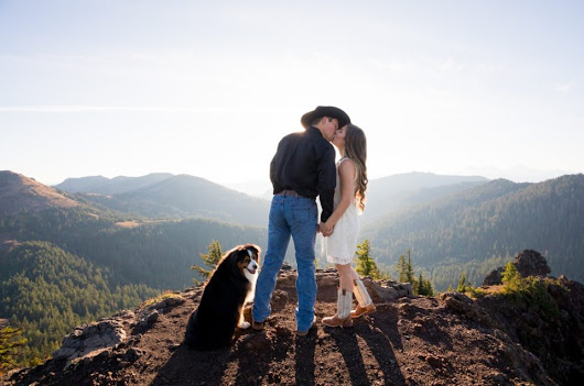 Lyndee & Max | Adventure Engagement Session | Iron Mountain Oregon