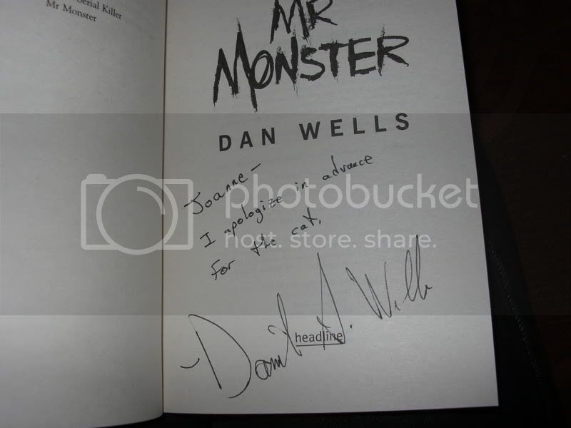 signed Mr Monster by Dan Wells