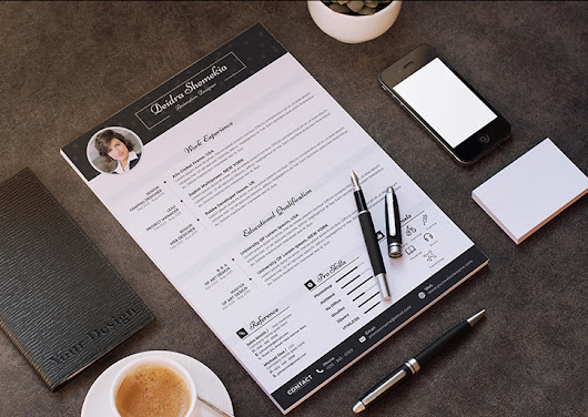 Free Professional Resume (CV) Design Template With Cover Letter PSD Files - Good Resume