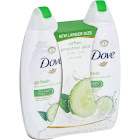 Dove Body Wash, Cool Moisture, Go Fresh - 2 pack, 22 fl oz body washes