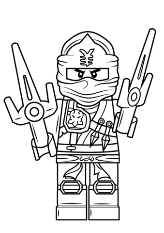 lego ninjago jay zx coloring page  free printable