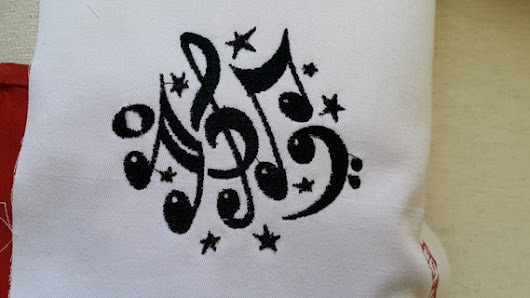 music notes machine embroidery design download zıp by GAMZEDESIGN
