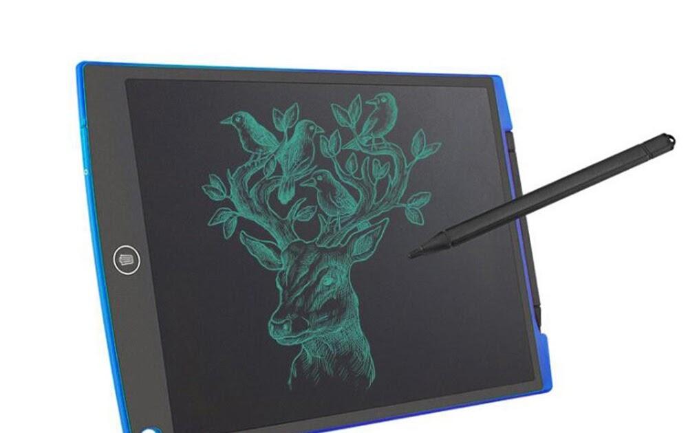 NEWYES 12 pouces Ewriter LCD Tablette d/écriture Bon March/é M/émo Pad magn/étiques bloc-notes Notepad comprend 1Stylo 2 Aimants LCD Tablette d/écriture graphique dessin bleu