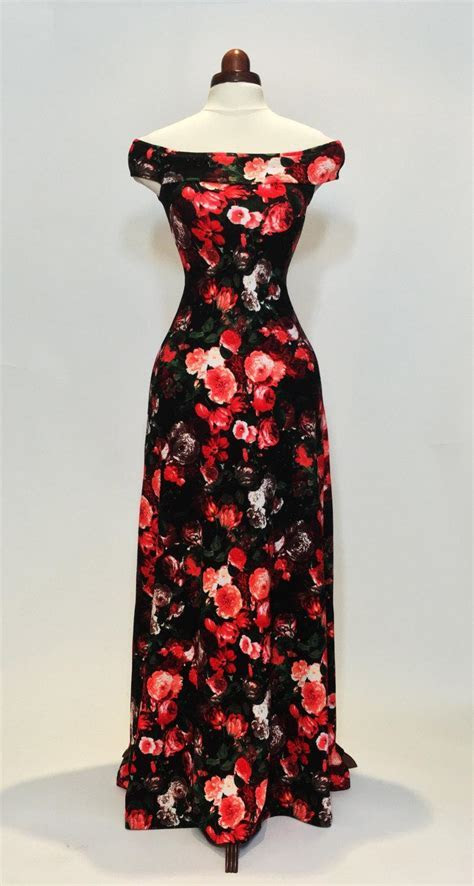 Maxi Dress, Summer Dress, Floral Dress, Red And Coral