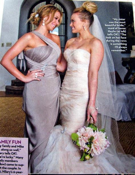 Hilary Duff wedding with her sister Haylie.   Wedding