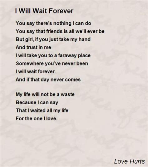Ill Wait Forever Quotes