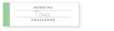 Morning-timer-challenge