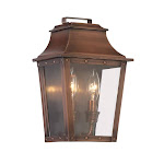 Acclaim Lighting Coventry 2 Light Outdoor Wall Sconce In Copper Patina with Clear Glass - 8423CP