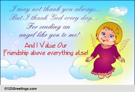 Angel Like You  Free I Value Our Friendship Day eCards