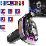 Car Bluetooth FM Transmitter MP3 Wireless Adapter Kit for Cars, Trucks, SUVs and more