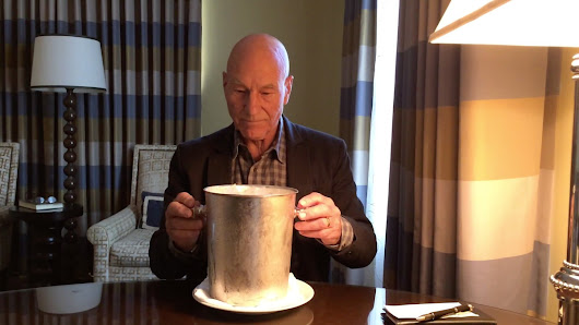Patrick Stewart does the ALS Ice Bucket Challenge the right way