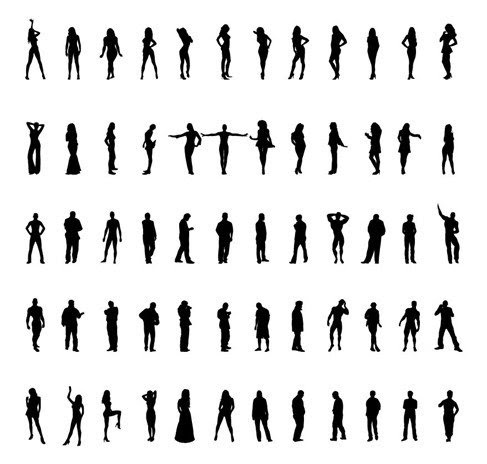 People Silhouettes Vector Set - 365psd