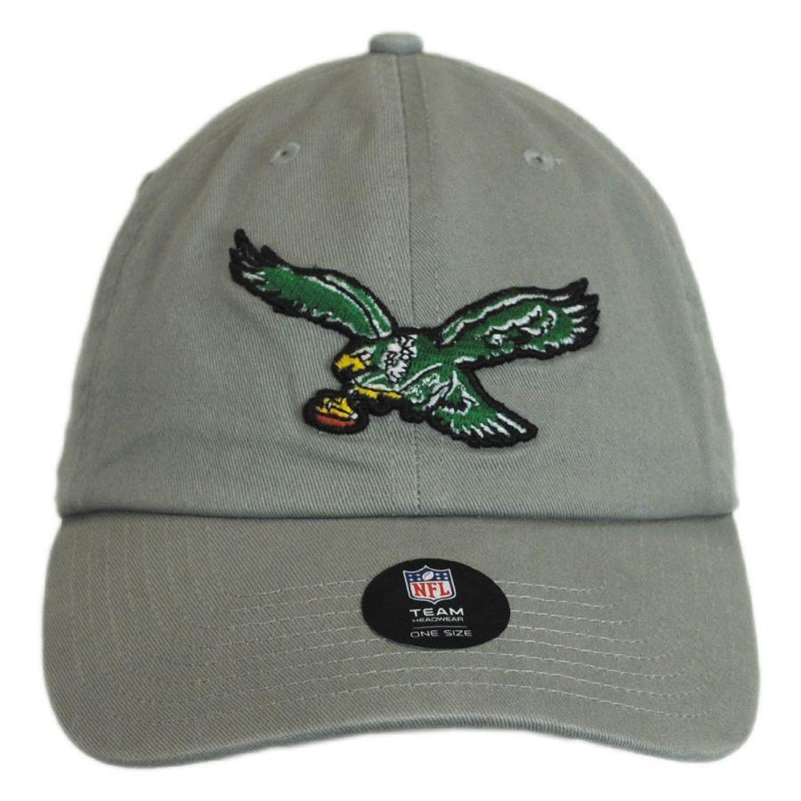 47 Brand Philadelphia Eagles NFL Clean Up Strapback Baseball Cap NFL Football Caps