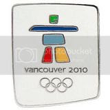 2010 Winter Olympics Stone Logo Collectible Pin