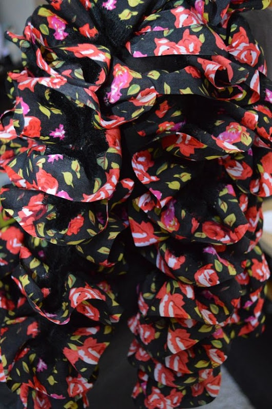 Gorgeous Black Scarf with Red Roses- Silky, Soft, and Fashionible