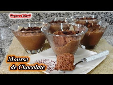 MOUSSE DE CHOCOLATE con solo 3 ingredientes, sin huevo