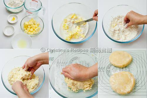 蘑菇雞肉批製作圖 Mushroom Chicken Pie Procedures01