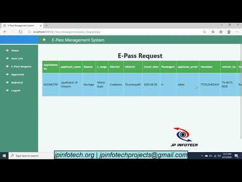 E-Pass Management System | Latest Final Year Project
