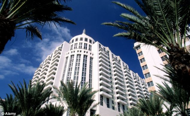 Scene of the sting: The swanky Loews hotel on Ocean Drive, Florida, where undercover FBI agents posing as art collectors nabbed a man and a woman selling the Matisse painting that had been missing for over 10 years
