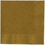 Glittering Gold (Gold) Beverage Napkins - 17869 - Pack of 50 - Golden