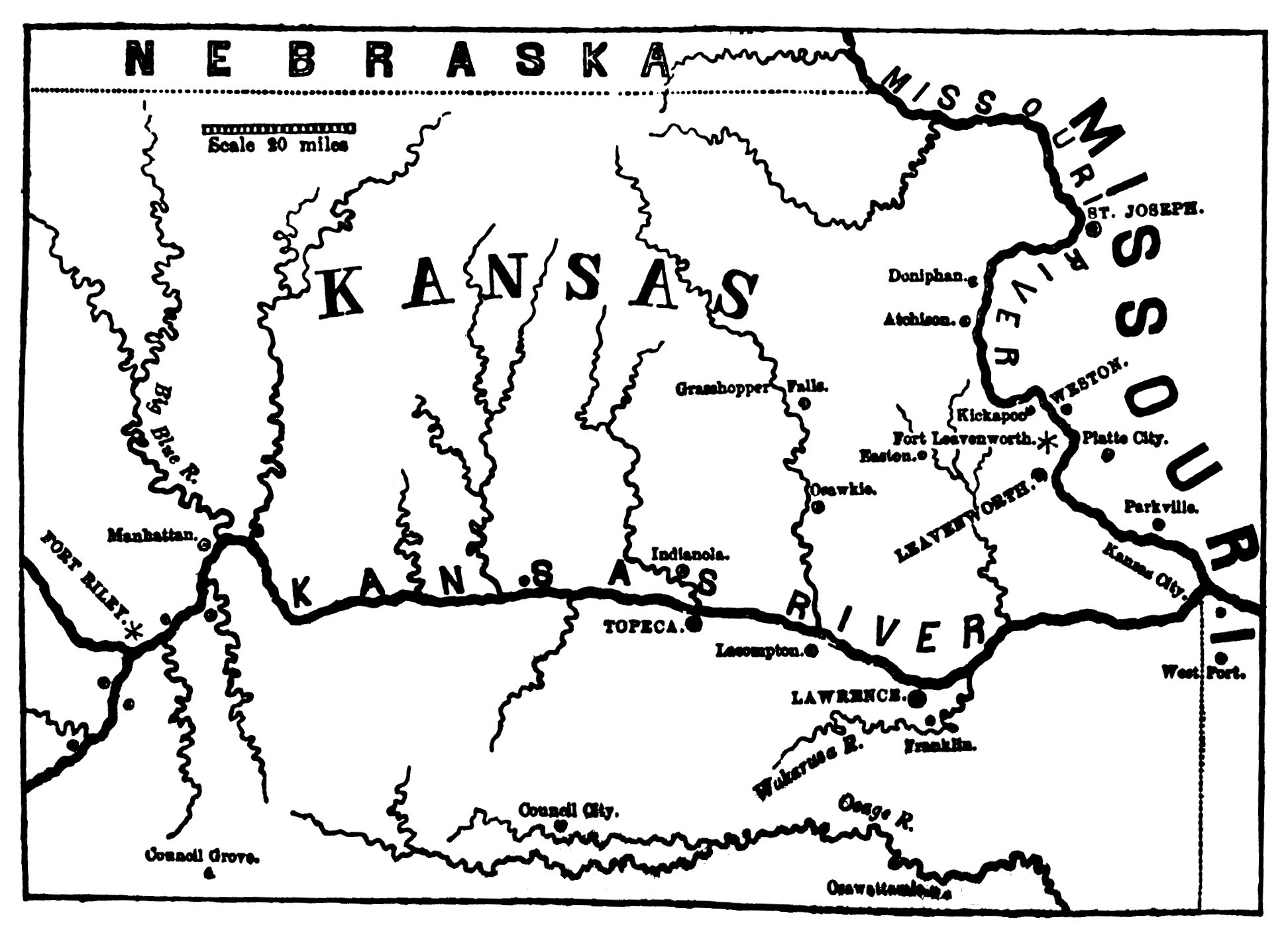 Image Result For Map Of Kansas