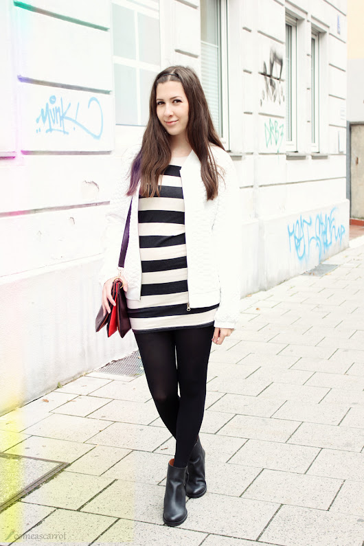 Outfit: Fluffy white stripes in Munich