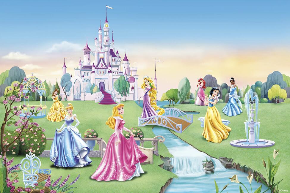 Princess - Castle - Children Wallpaper - Fototapeter ...