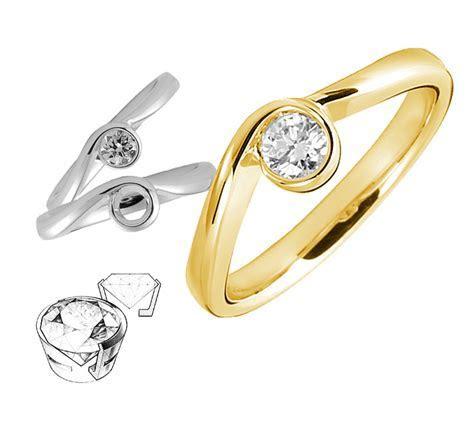 Diamond Engagement Ring   Bezel Settings