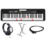 Casio LK-S250 Premium Portable Lighted Keyboard Bundle