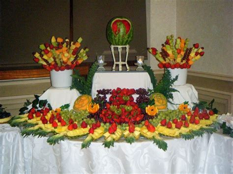 Wedding Fruit Tables #simplydelicious   Fruit Tables in