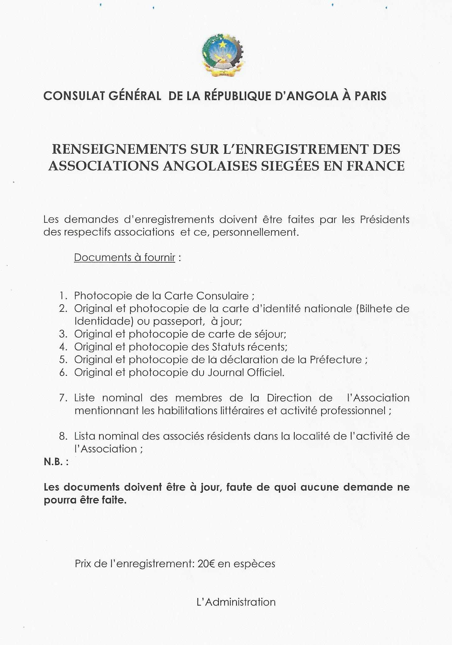 Documents Du Consulat Général De La République Dangola Casa Dangola