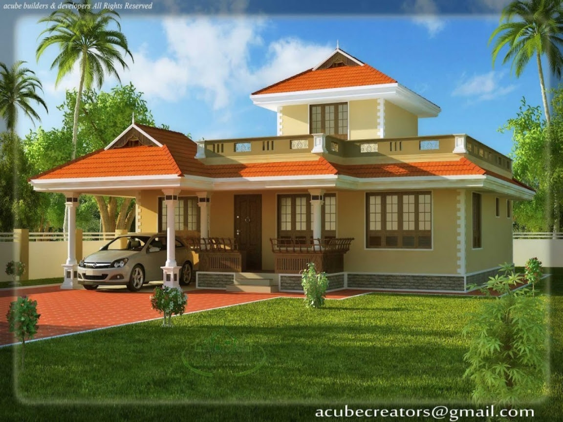 Beautiful House  Plans  Rear  View  House  Beautiful Plans  in