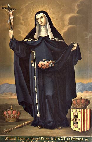 St. Elizabeth of Portugal, painting is in the Museo Colonial de San Francisco in Santiago, Chile.